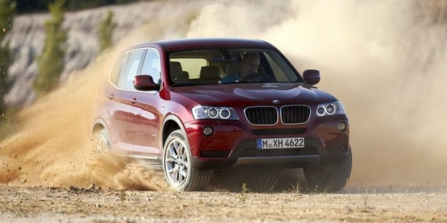le bmw x3 vu de face