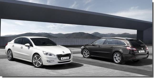 les peugeot 508 berline et break cote-a-cote