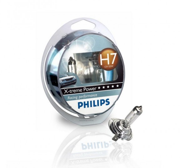 emballage et ampoule h7 philips x-treme power