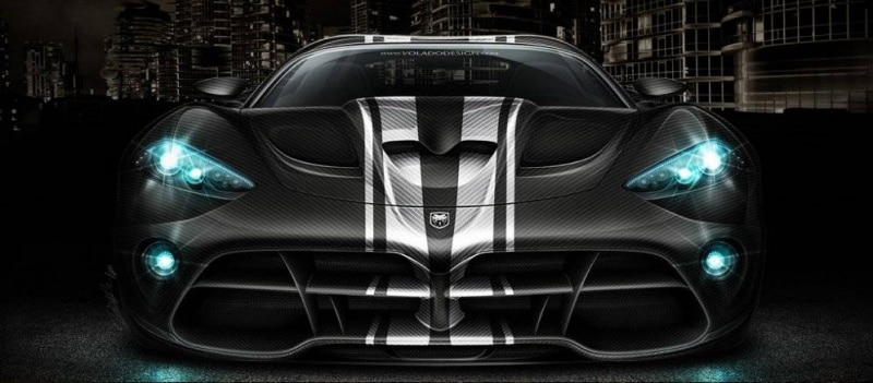 La future Dodge Viper en action