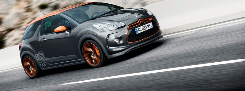 La Citroën DS3 Racing sur route