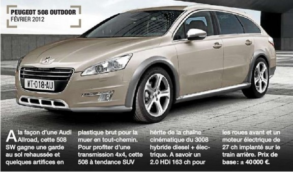 peugeot 508 sw outdoor 2012 une audi allroad prix. Black Bedroom Furniture Sets. Home Design Ideas