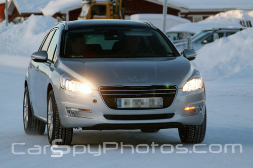 la peugeot 508 rxh surprise en phase de tests dans la neige