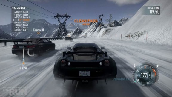 ecran du jeu need for speed the run
