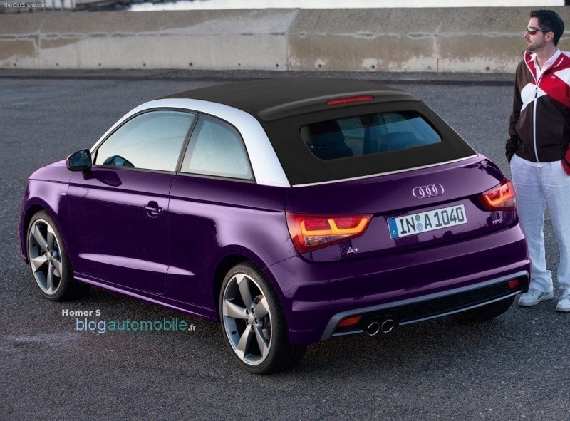 audi a1 d couvrable cabriolet d capotable sortie en 2013. Black Bedroom Furniture Sets. Home Design Ideas