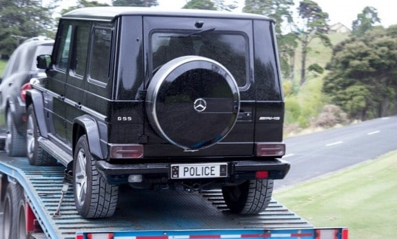 le mercedes classe g55 amg immatricule police
