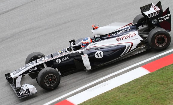 barrichello dans sa monoplace williams f1