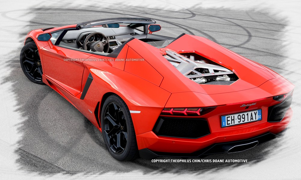 lamborghini aventador roadster premi re image. Black Bedroom Furniture Sets. Home Design Ideas