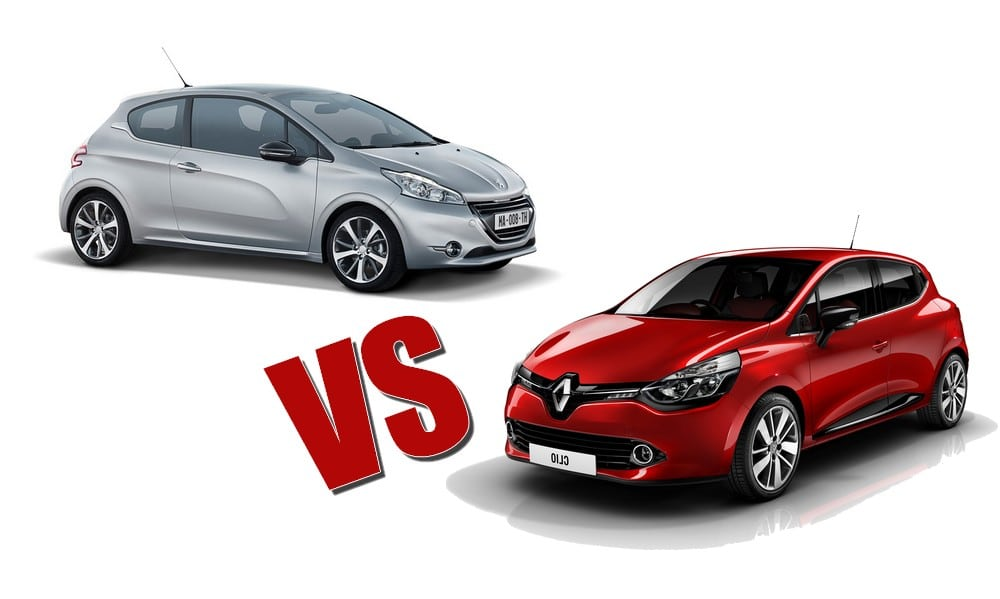 renault clio 4 vs peugeot 208 le match. Black Bedroom Furniture Sets. Home Design Ideas