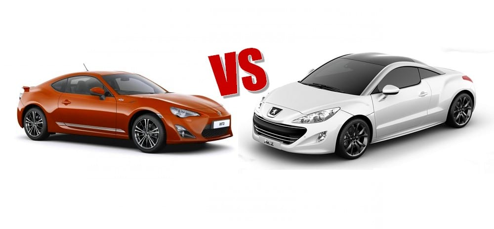 toyota gt86 vs peugeot 308 rcz le match. Black Bedroom Furniture Sets. Home Design Ideas