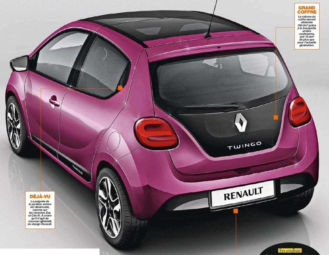 twingo 3 2014 bouleversement en vue pour la petite renault. Black Bedroom Furniture Sets. Home Design Ideas