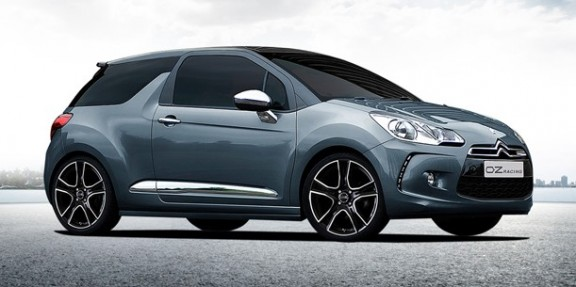 une citroën ds3 equipee d'un train oz