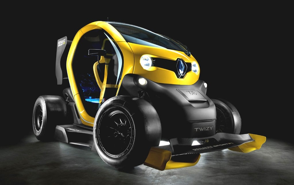 la petite twizy passe entre les mains de renault sport et f1. Black Bedroom Furniture Sets. Home Design Ideas