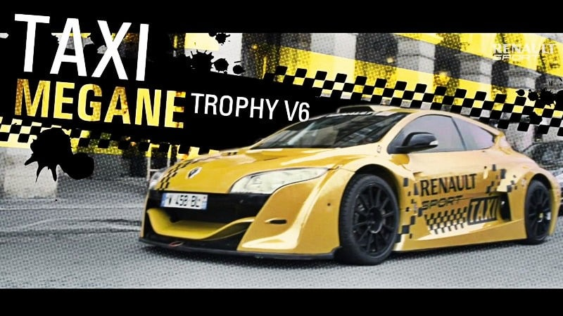 challenge renault sport une megane trophy taxi dans paris. Black Bedroom Furniture Sets. Home Design Ideas