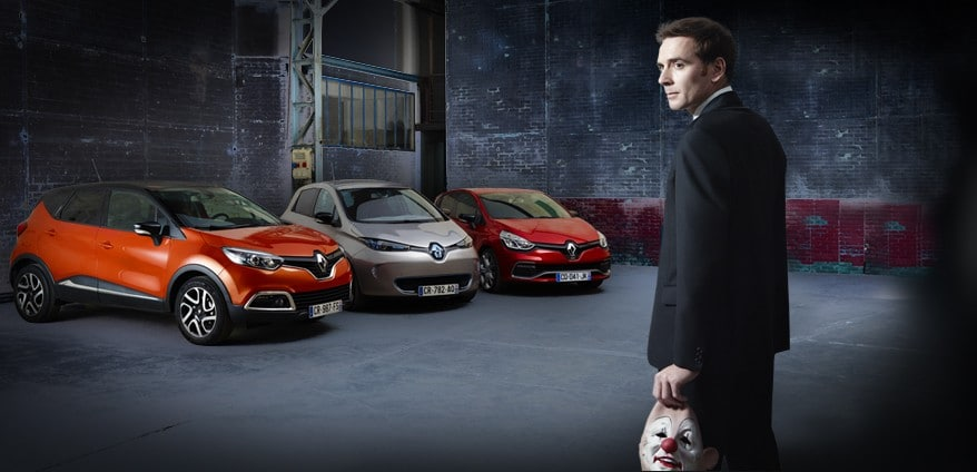 Renault : grand hold-up des clowns dans Paris !