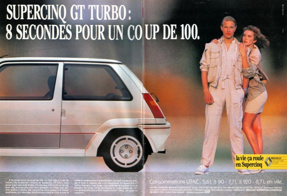 pub renault super cinq gt turbo