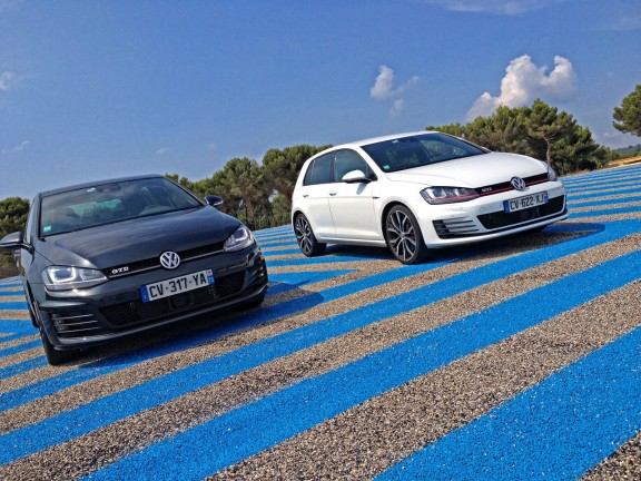 Les Volkswagen Golf 7 GTD & GTI à l'essai sur le circuit Driving Center au Paul Ricard