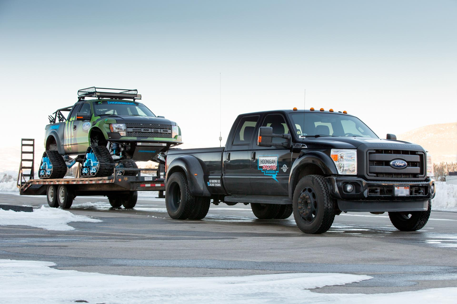 Ford Pick Up F150 >> F150 Raptor TRAX : le pick-up Ford avec des chenilles à neige
