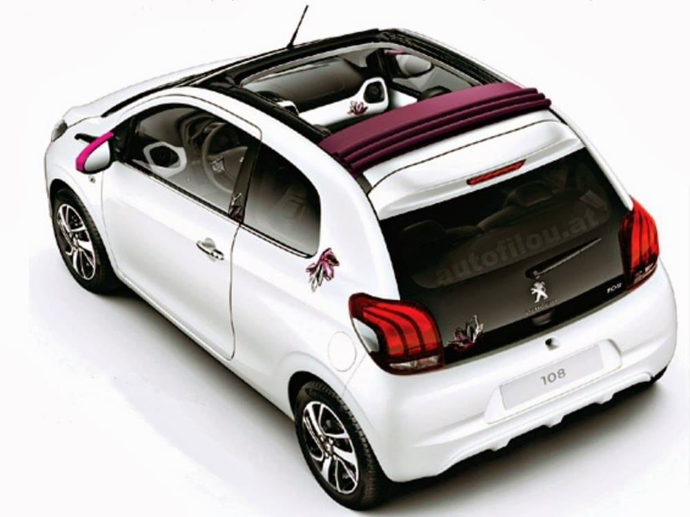 une nouvelle image de la peugeot 108 avec la poupe. Black Bedroom Furniture Sets. Home Design Ideas