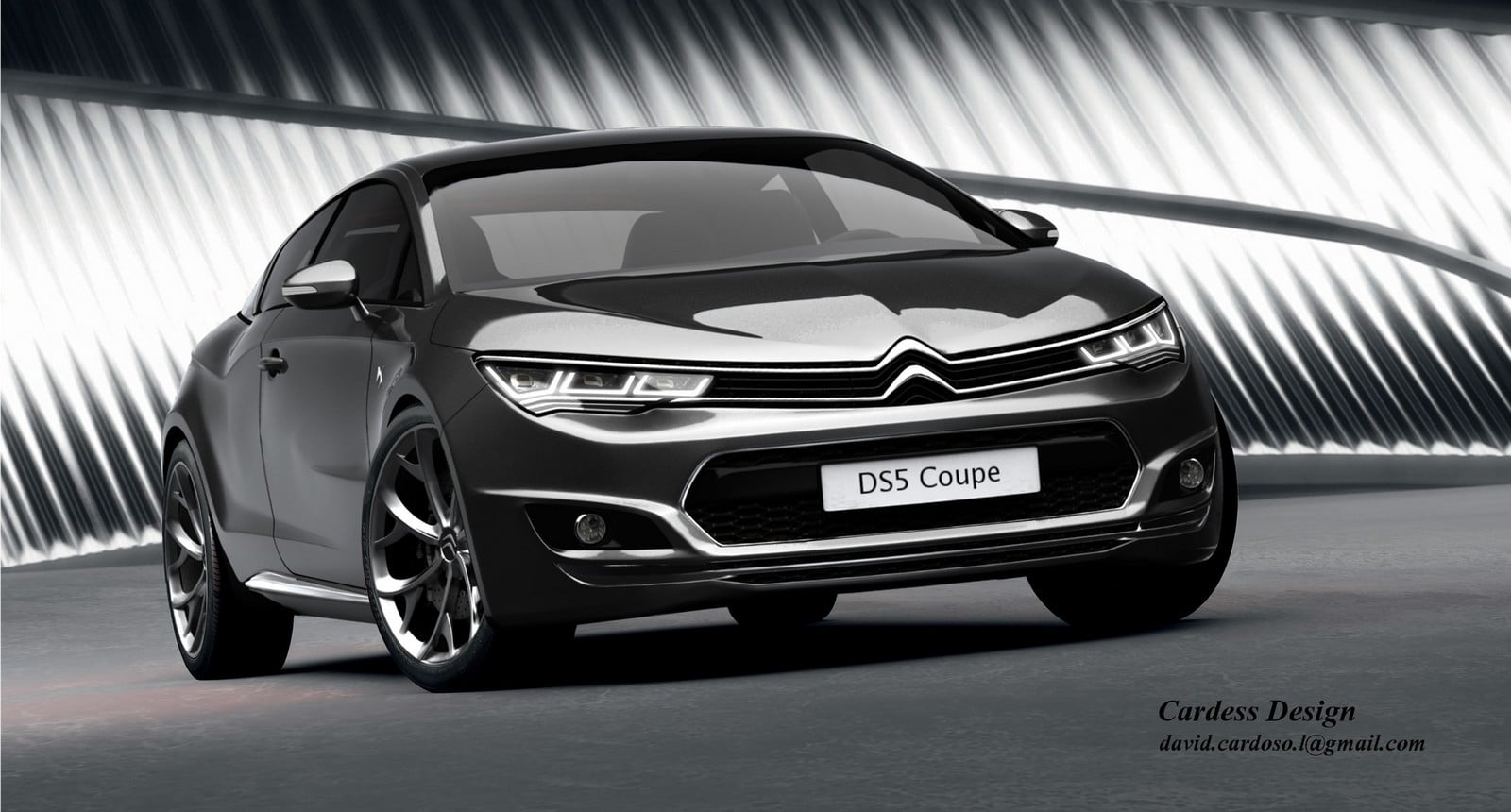 Illustration d'une Citroën DS5 Coupé : plausible ?