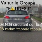 Peugeot 308 radar mobile mobile DM 213 BY dep 47