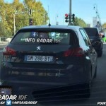 Peugeot 308 radar mobile mobile DM 286 BY Paris