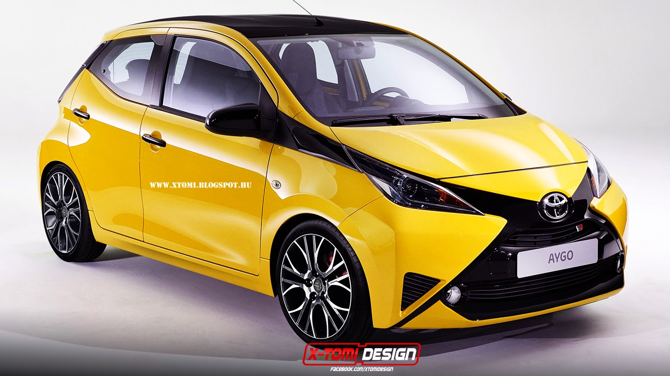 la toyota aygo 2014 en tenue sportive. Black Bedroom Furniture Sets. Home Design Ideas