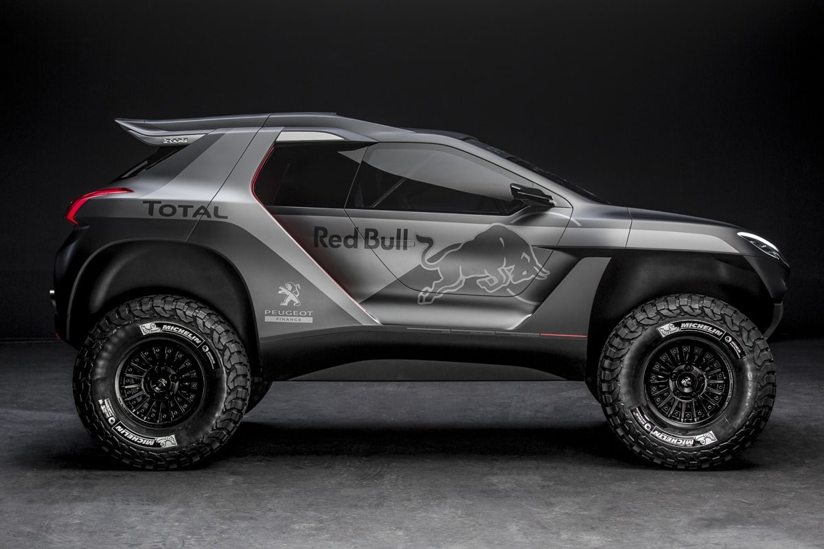 voici le peugeot 2008 dkr qui ira au dakar 2015. Black Bedroom Furniture Sets. Home Design Ideas