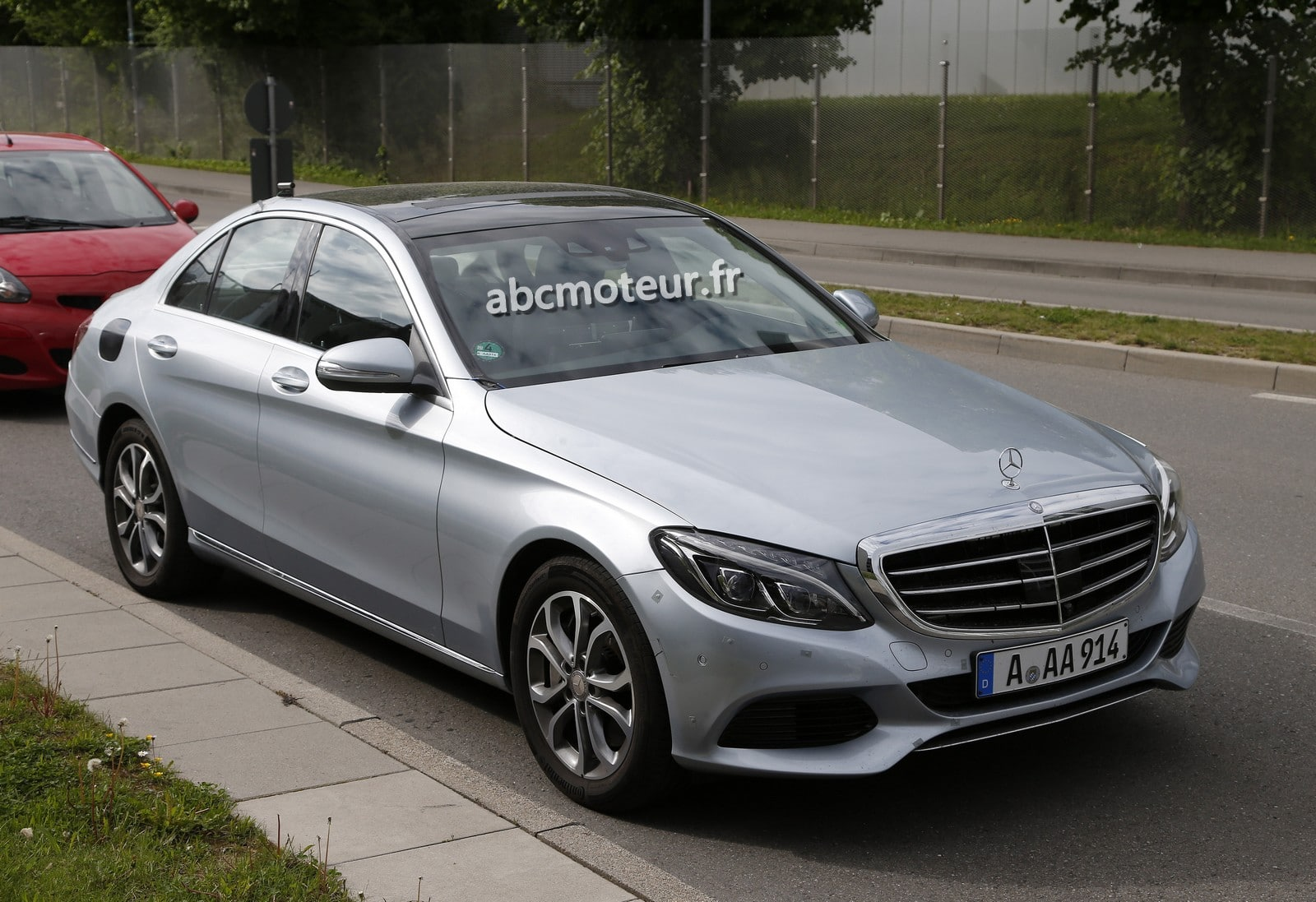 spyshots mercedes classe c 350 2015 hybride. Black Bedroom Furniture Sets. Home Design Ideas