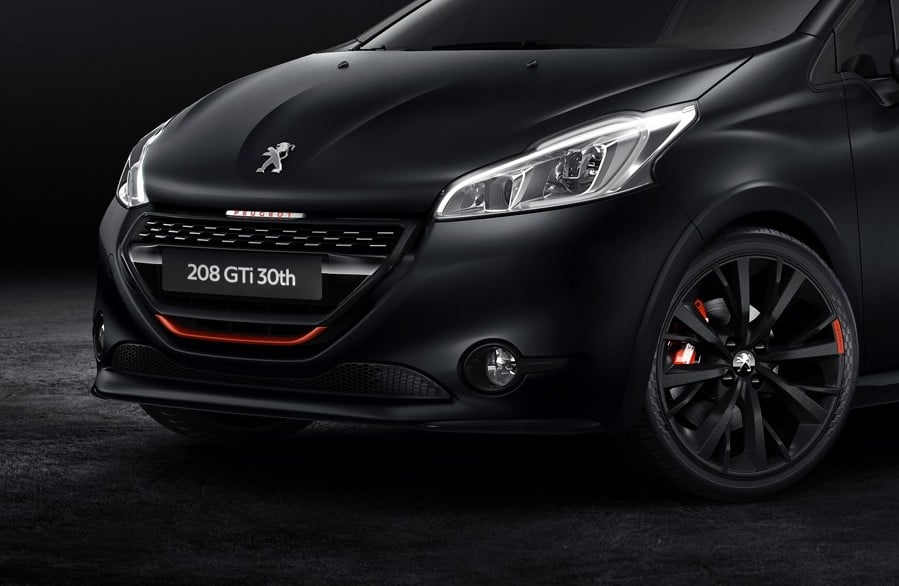 la nouvelle peugeot 208 gti 30th atteint les 208 ch. Black Bedroom Furniture Sets. Home Design Ideas