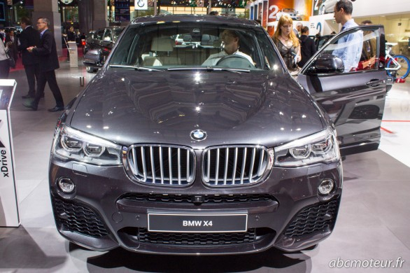 avant BMW X4 Paris 2014