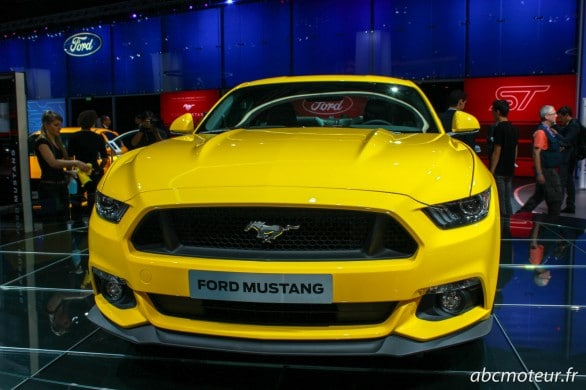 avant Ford Mustang Paris 2014