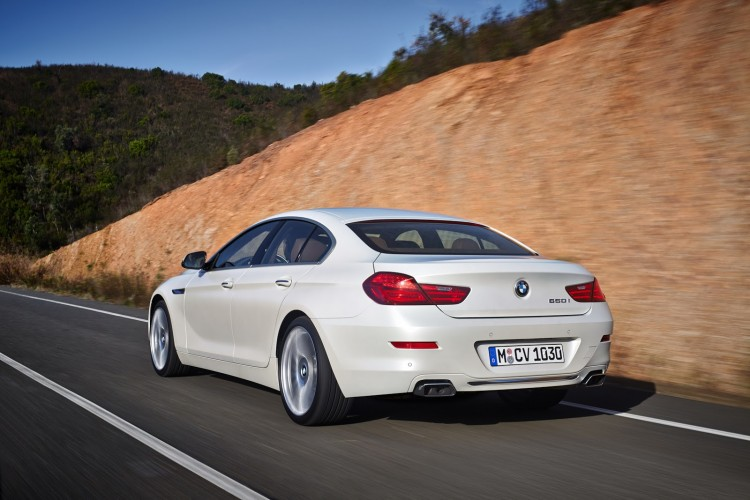 vue 3-4 arriere BMW Serie 6 Gran Coupe restylee