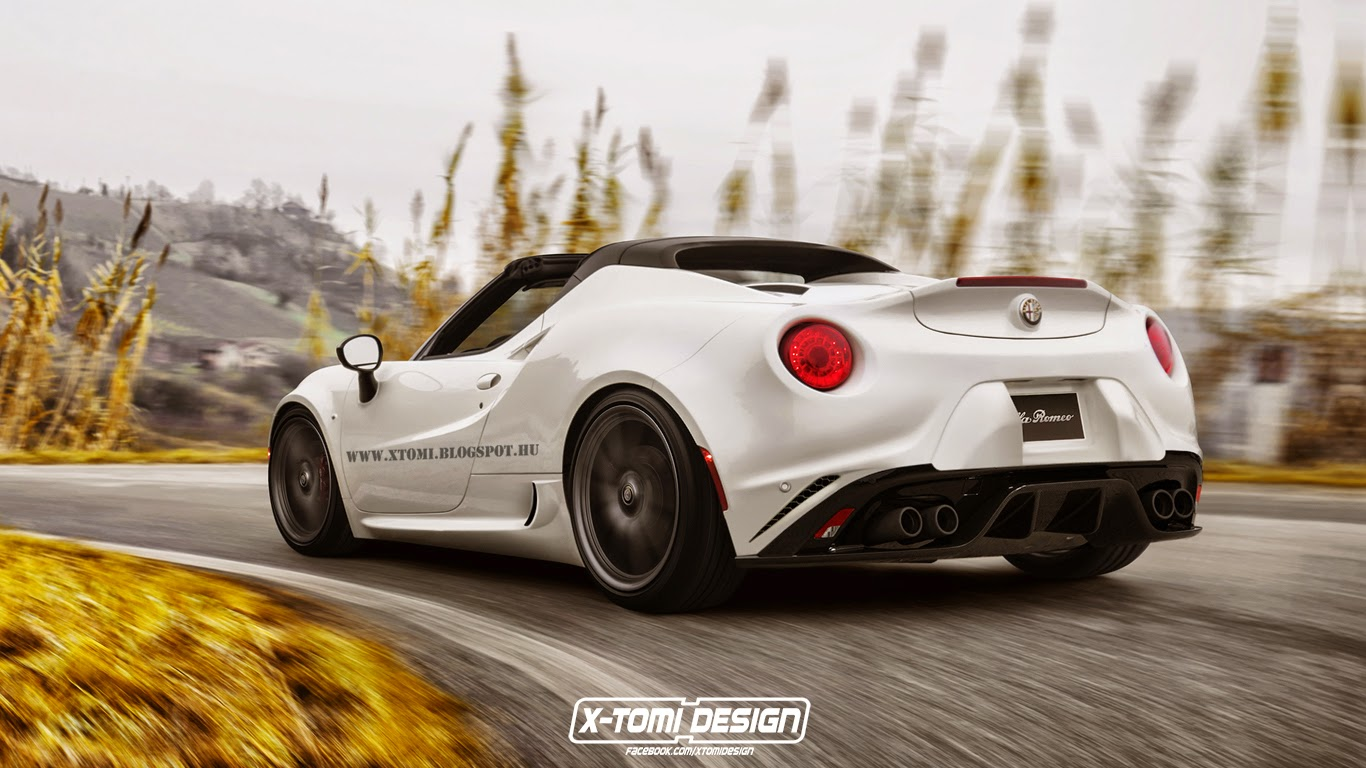 quand l 39 alfa romeo 4c spider muscle son apparence. Black Bedroom Furniture Sets. Home Design Ideas