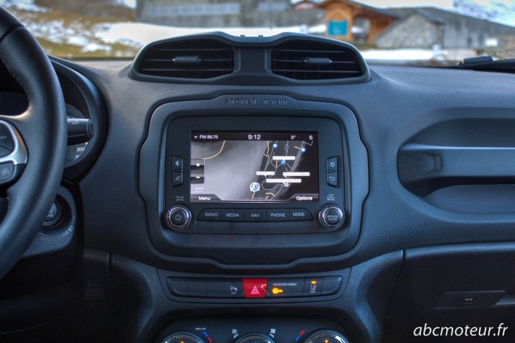 console centrale Jeep Renegade
