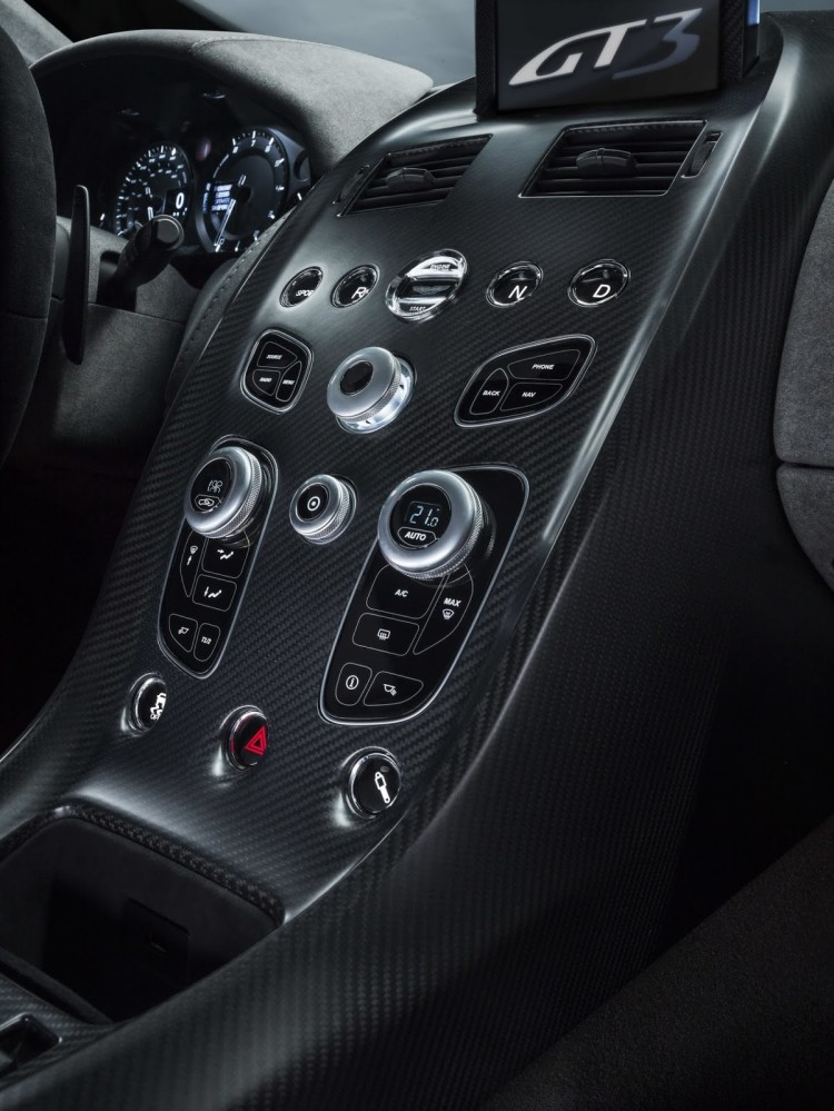 console centrale carbone Aston-Martin-GT3 Special Edition