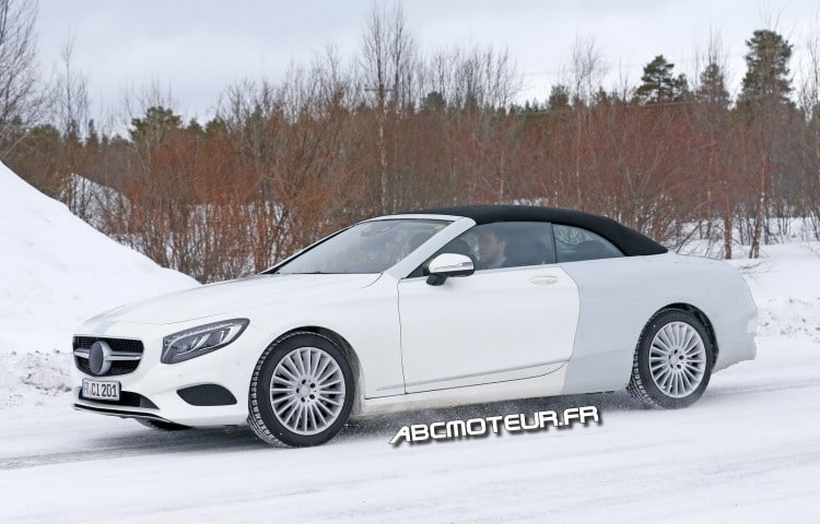 photo espion Mercedes Classe S Cabriolet