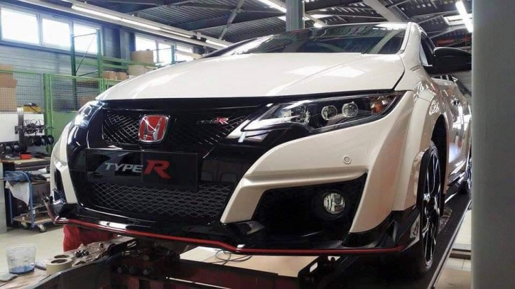 photo volee avant Honda Civic Type R 2015