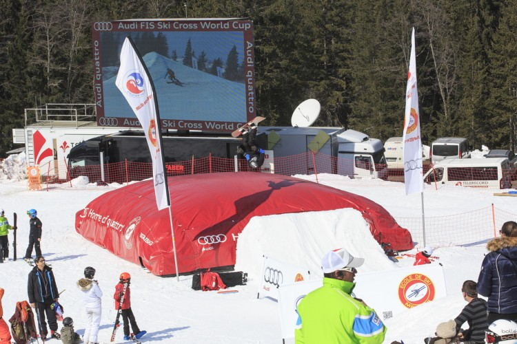 surface gonflable AudiFIS Megeve