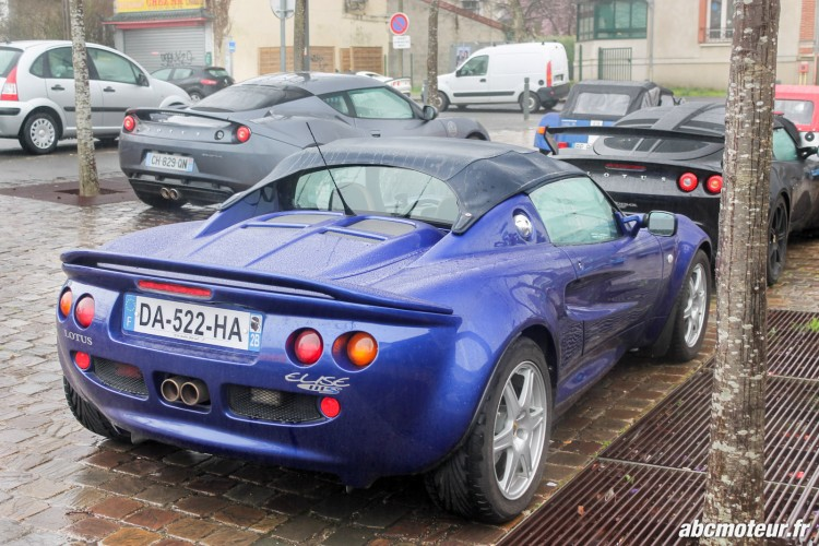 Lotus Elise S1 111S sortie 77 Club Lotus France IDF mars 2015