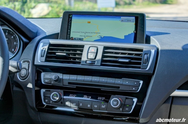 console centrale BMW Serie 1 F20 restylee 120d