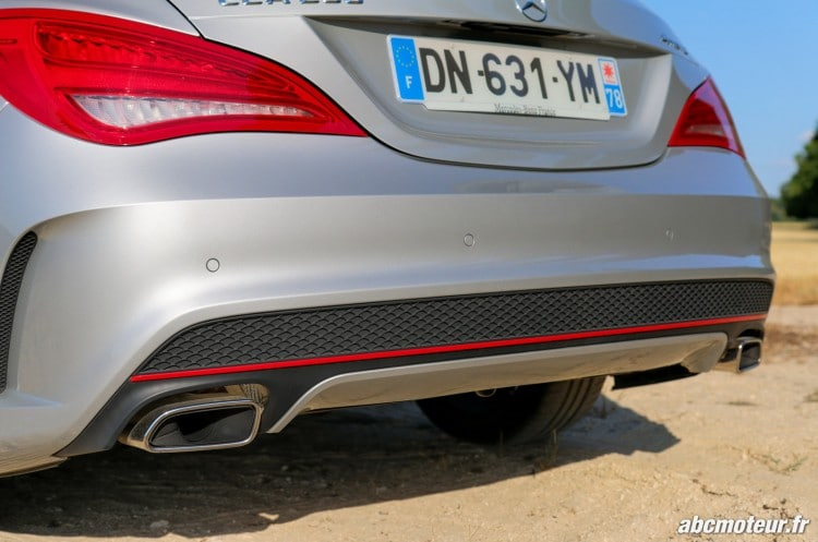 Mercedes CLA 250 Shooting Brake 4Matic Version Sport echappement