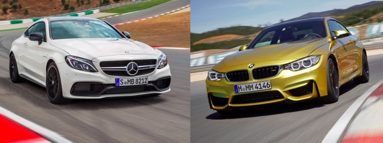Mercedes C Coupe AMG BMW M4