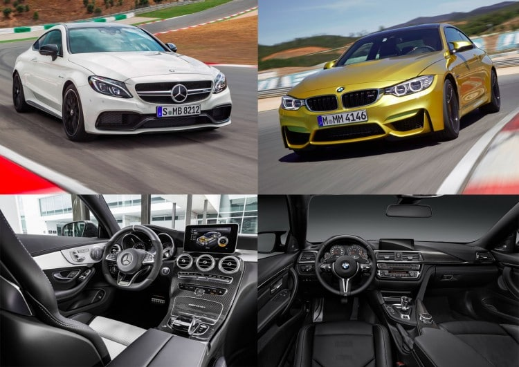 Mercedes C Coupe AMG vs BMW M4