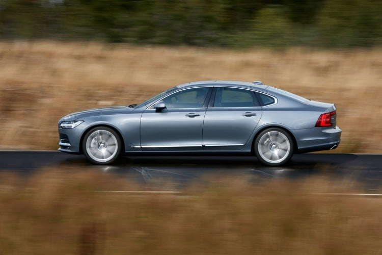 Location Profile Left Volvo S90 Mussel Blue 2