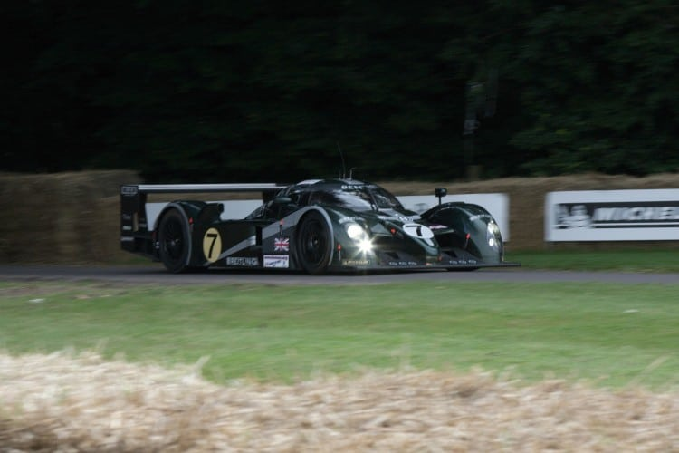 La Bentley Speed 8 à Goodwood (crédit photo : Andrew Basterfield)