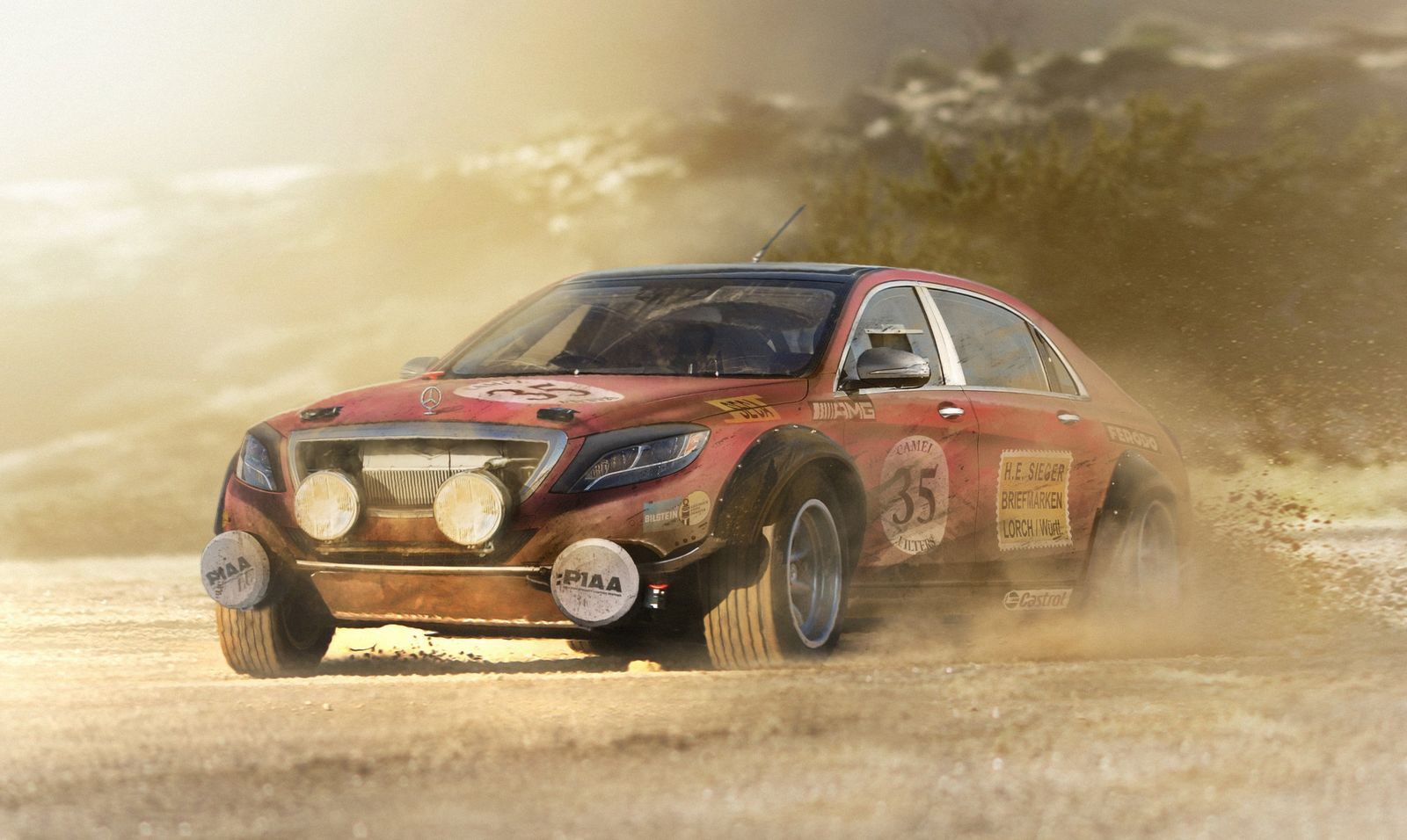 Des voitures modernes transform es pour le rallye for Rally mercedes benz