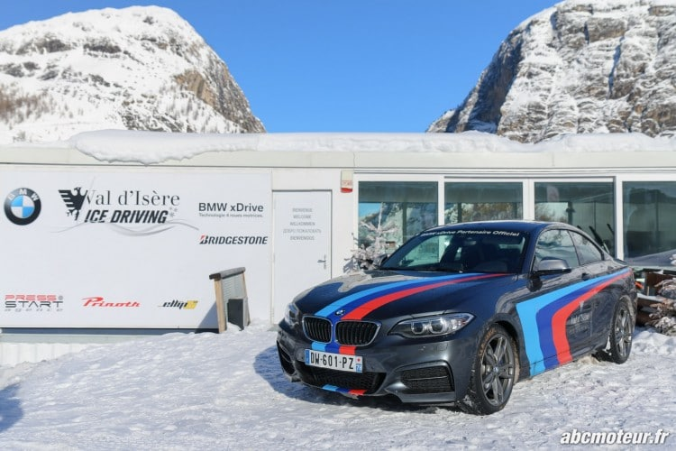 BMW Val Isere Ice Driving M235i