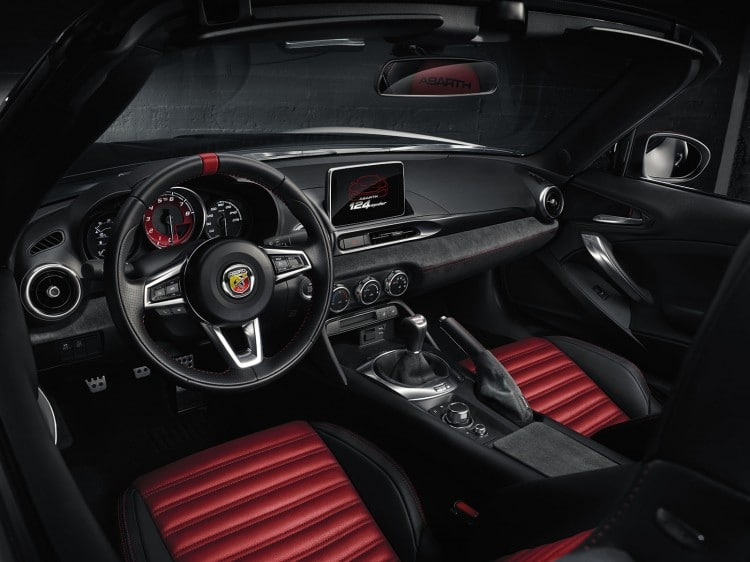 Abarth 124 Spider-interieur