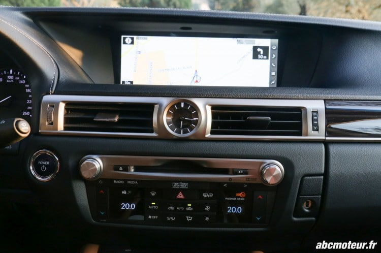 Lexus GS 450h Executive console centrale